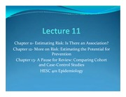 Lectures 11