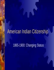 3 - American Indian Citizenship