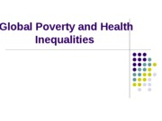 Global Inequality  and Disease IV