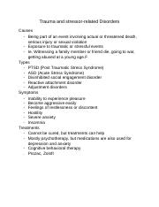 Trauma and stressor-related Disorders.docx