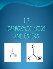 PP 1.7 Carboxylic Acids and Esters PDF