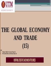 EA L15 -  THE GLOBAL ECONOMY and TRADE[XIV]