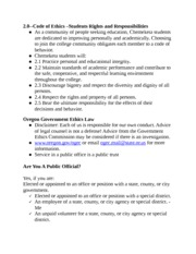 2.0--Code of Ethics Students Rights and Responsibilities