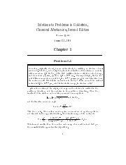 Classical Mechanics 2nd Ed--Goldstein - Solutions to Problems-00-p70
