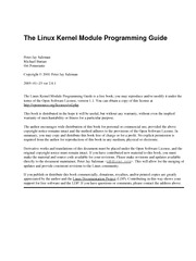 The Linux Kernel Module Programming Guide 2.6