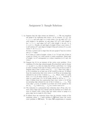 CPSC 500 Fall 2014 Assignment 5 Solutions