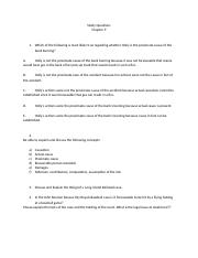 Study Questions Ch 9