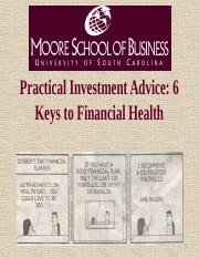Practical Investment Advice (student)
