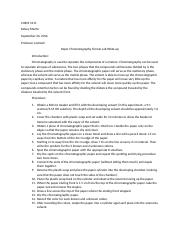Chem 1211 Formal Lab Writeup (Paper Chromatography).docx