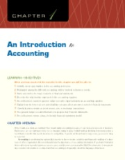 Chapter 1 An Introduction to Accounting