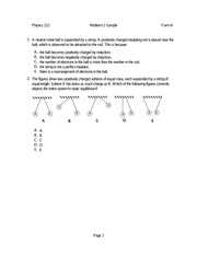 Physics 212 Exam 1 Sample 1