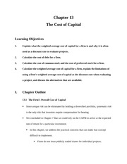 9.The Cost of Capital