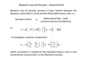 Rate of Deformation and Newton's Law of Viscosity