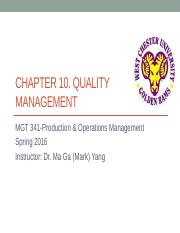 Ch10 Quality Management [Lecture PPT-Revised].pptx