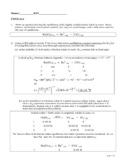 CHEM 3111 Problem set 2 KEY