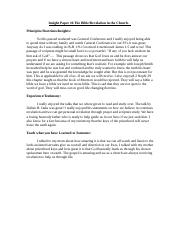 Insight Paper #6 The Bible and Revelation .docx