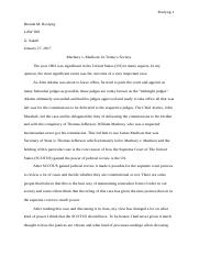 Marbury v. Madison - Reflection.docx