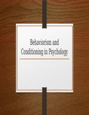 Behaviorism and Conditioning in Psychology