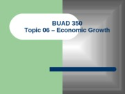 Topic 06 - Economic Growth (Thursday)
