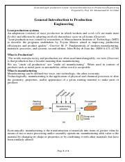 1. Introduction to lean Productiuon