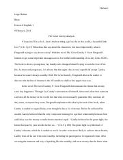 The Great Gatsby Analysis.docx