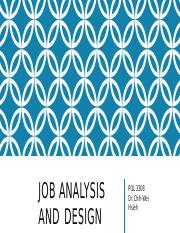 Lecture 4 Job Analysis and Design