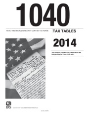 2014 IRS Tax Table
