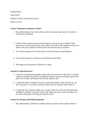 Chp 9 Questionnaire Exam Material