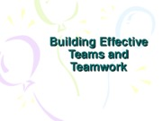 Building_Effective_Teams_and_Teamwork Lecture