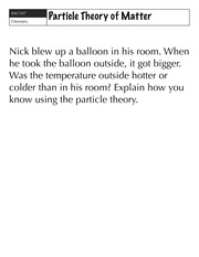 particle theory questions