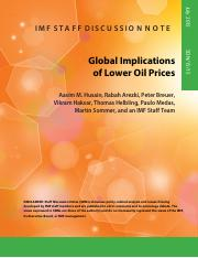 Global Implications of Lower Oil Price-IMF