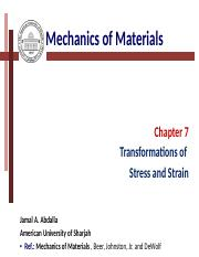 Chapter (7)-Stress transformations