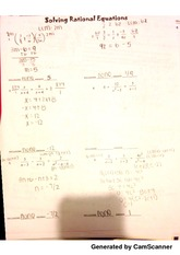 Solving Rational Equations.