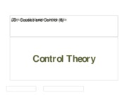 (8) Control Theory