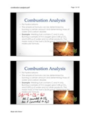chapter 3.....combustion analysis