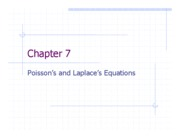 Chapter 7 - Poisson's and Laplace's Equations
