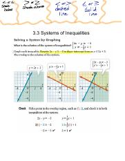 3.3-3.4 Systems of Inequalities and Linear Programming Note KEY