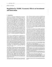 Regulation by TSLRIC Economic Effects on Investmen