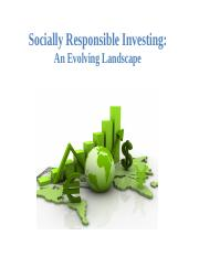 8-2  Socially Responsible Investing