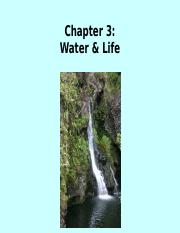 Chapter 3  Water and Life - SE