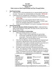 Introductory Handout for Chapter 10 Sole Proprietorships and Flow-Through Entities Spring 2015