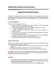 Debates - instructions