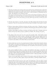 Homework Assignment 6 Solutions