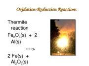 Chapter 3 Redox Reactions