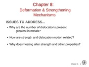 Deformation & Strengthening Mechanism