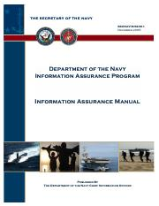 Information Assurance Manual US Navy