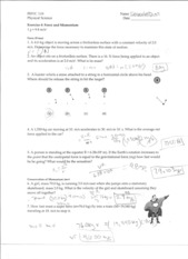 Phy 110 Notes 7