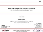 Heat Exchanger for Power Amplifiers