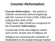 Counter-Rreformation and the Baroque-1