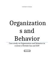 Organizations and Behavior.docx